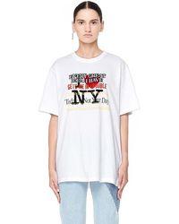 Vetements - Women's New York Tourist Cotton T-shirt - Lyst