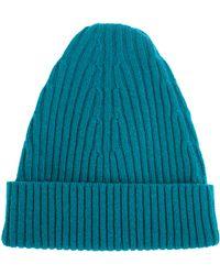 Maison Margiela Turquoise Wool Beanie - Blue