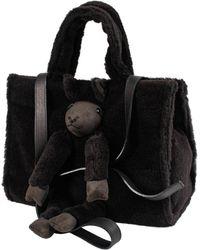 Doublet Alpaca Wool Medium Bag - Black