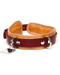 Guidi Big Leather Beige Dog-collar - Multicolour