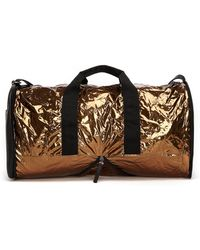 Maison Margiela - Metallic Textile And Leather Travel Bag - Lyst
