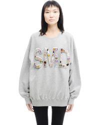 Ashish   Cotton Embroidered Sweatshirt   Lyst