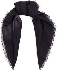 OAMC Cotton Abstract Printed Scarf - Black