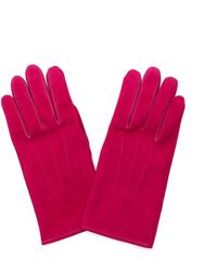 Hender Scheme Fuchsia Suede Gloves - Pink