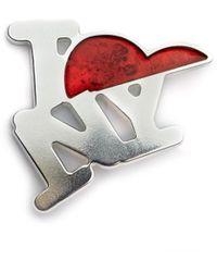 Raf Simons Значок I Love Ny - Металлик