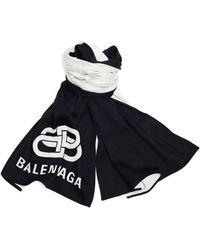 Balenciaga Двусторонний Шарф Вв Из Шерсти - Черный