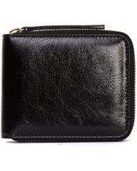 Maison Margiela - Black Textured Leather Wallet - Lyst
