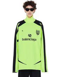 Balenciaga Футбольное Джерси С Высоким Воротником - Зеленый