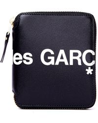 Comme des Garçons Черный Кожаный Кошелек С Логотипом