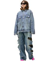 Balenciaga Джинсовая Куртка С Логотипом - Синий