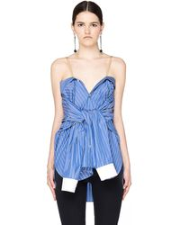 Maison Margiela - Striped Cotton Transformer Shirt - Lyst