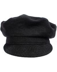 Yohji Yamamoto Black Linen Hat