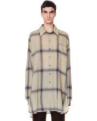 Ann Demeulemeester Sepia Checked Wool Emil Shirt - Natural