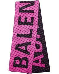 Balenciaga Шерстяной Шарф В Горошек - Розовый