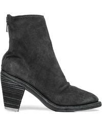 Guidi Замшевые Ботинки На Каблуке - Черный