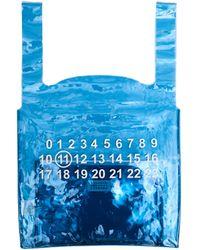 Maison Margiela Голубая Сумка-шоппер 11 Logo - Синий