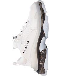 Balenciaga Кроссовки Triple S С Прозрачной Подошвой - Белый
