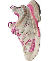 Balenciaga Белые Кроссовки Track С Розовыми Деталями - Белый