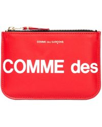Comme des Garçons - Красный Кожаный Кошелек С Логотипом - Lyst