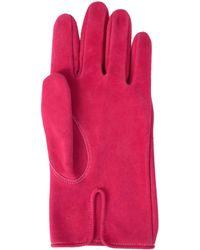 Hender Scheme Замшевые Перчатки Цвета Фуксии - Розовый