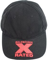 Balenciaga Хлопковая Кепка С Вышивкой - Черный