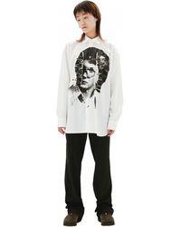 Raf Simons Белая Хлопковая Рубашка - Белый