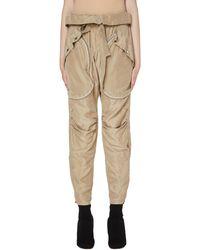 Faith Connexion Silk Cargo Trousers - Natural
