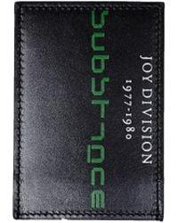 Raf Simons - Black Substance Leather Card Holder - Lyst
