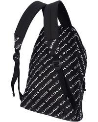 Balenciaga Нейлоновый Рюкзак С Логотипом - Черный