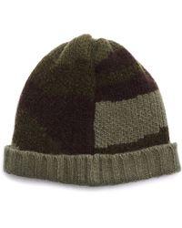 Greg Lauren Paul Shark Wool Camo Hat - Green