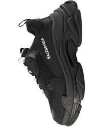 Balenciaga Черные Кроссовки Triple S - Черный