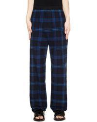 Balenciaga Blue Checked Flannel Trousers