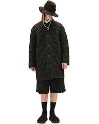 OAMC Стеганое Пальто - Черный