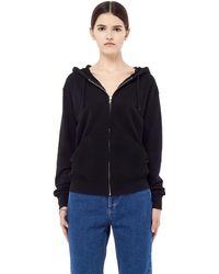 Blackyoto Embroidered Koi Hoodie Sweatshirt - Black