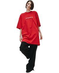 Vetements Красная Футболка С Вышивкой Haute Couture - Красный