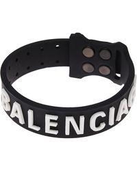 Balenciaga Силиконовый Браслет С Логотипом - Черный