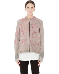 By Walid Svmoscow Exclusive Bomber Jacket - Natural