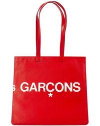 Comme des Garçons Красная Кожаная Сумка С Логотипом - Красный