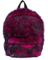 Vetements Pink Shearling Backpack