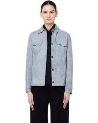 Salvatore Santoro Leather Jacket - Blue