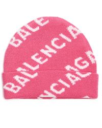 Balenciaga Розовая Шерстяная Шапка - Розовый