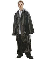 Vetements Черное Пальто Из Лакированной Кожи - Черный