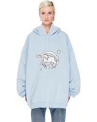 Vetements Blue Oversize Unicorn Hoodie