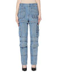 Balenciaga - Navy Cargo Jeans - Lyst