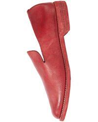 Guidi Красные Кожаные Лоферы - Красный
