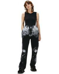 Balenciaga Черные Брюки С Контрастными Пятнами - Черный
