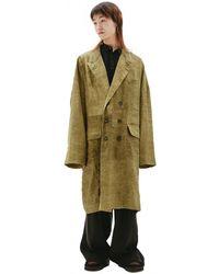 Ziggy Chen Doublet Breasted Coat - Multicolor