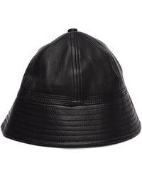Hender Scheme Black Leather Bucket Hat