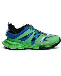 Balenciaga Зелено-голубые Кроссовки Track - Зеленый