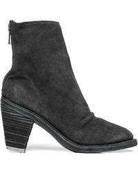 Guidi Suede Ankle Boots - Gray